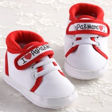 Classic I Love PaPa MaMa Baby Boys Girls Canvas Sneaker Shoes Infants Toddler Newborn Crib Bebe Shoes