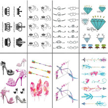 ba8bf3c4f Free Shipping Sex you up King & Queen Clowns Wrist Finger Tattoos Stickers  for Temporary Tattoo #r120