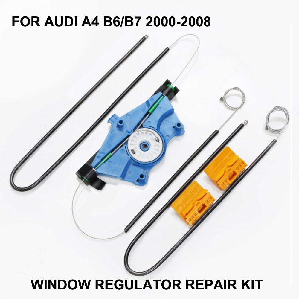 2000-2008 WINODW KIT FOR AUDI A4 B6/B7 WINDOW REGULATOR CABLES AND CLIPS FRONT-RIGHT SIDE
