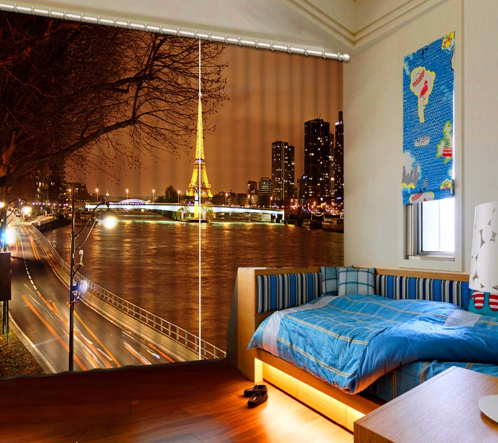 3D Curtain Sports football Blackout Window Curtain Living room High Quality European Style
