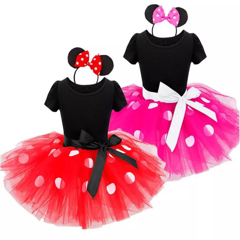 HTB19cRiXvjsK1Rjy1Xaq6zispXau Fancy Kids Dresses for Girls Birthday Easter Cosplay Minnie Mouse Dress Up Kid Costume Baby Girls Clothing For Kids 2 6T Wear