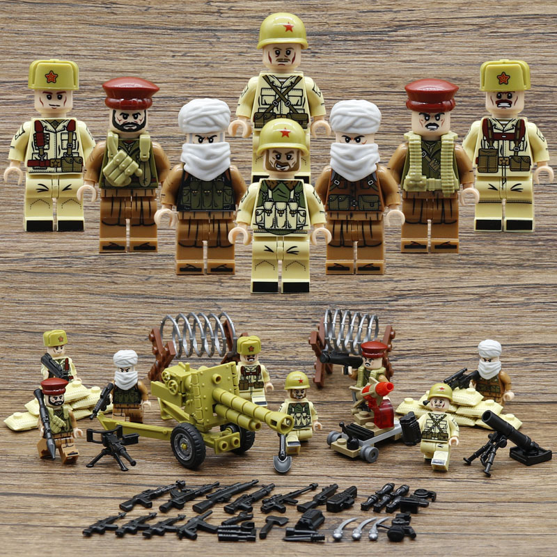 War in Afghanistan MILITARY Soldier With Weapon SWAT Mini Building Blocks Bricks Toys For Children Gift Compatible With Legoe gudi 4 in 1 military soldier model building blocks toys for children army firewire swat action figure diy bricks gift 237pcs set