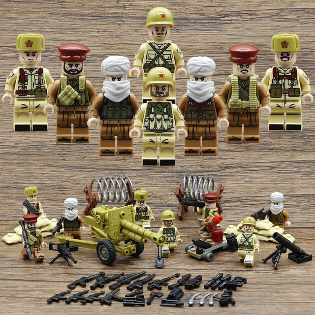War in Afghanistan MILITARY Soldier With Weapon SWAT Mini Building Blocks Bricks Toys For Children Gift Compatible With Legoe