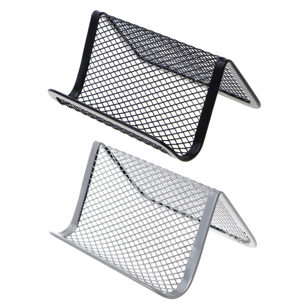 Metal Mesh Business Card Holder For Desk Office Business Card Holder Collection