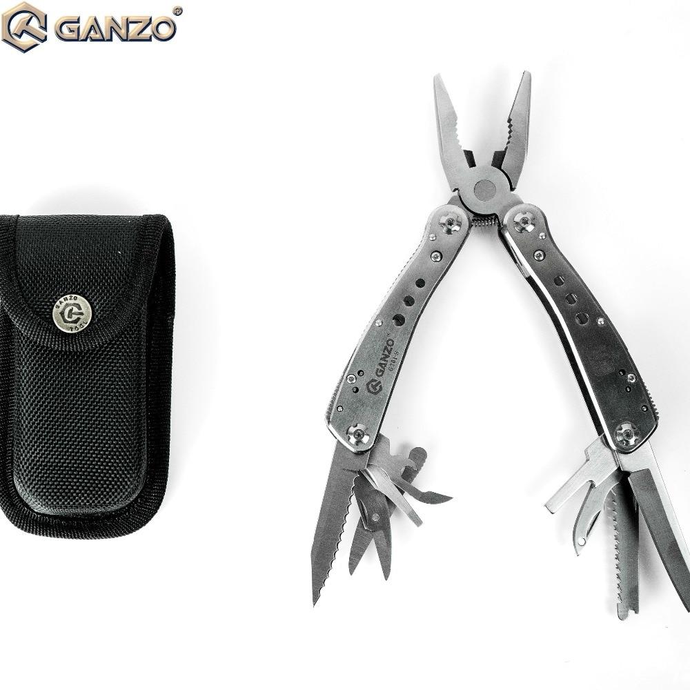 Zangen 3 Teile/los Original Ganzo G201h G201-h 22in1 Outdoor Multi Zangen Werkzeug Camping Werkzeug W/nylon Beutel Silve Klapp Zange Werkzeuge
