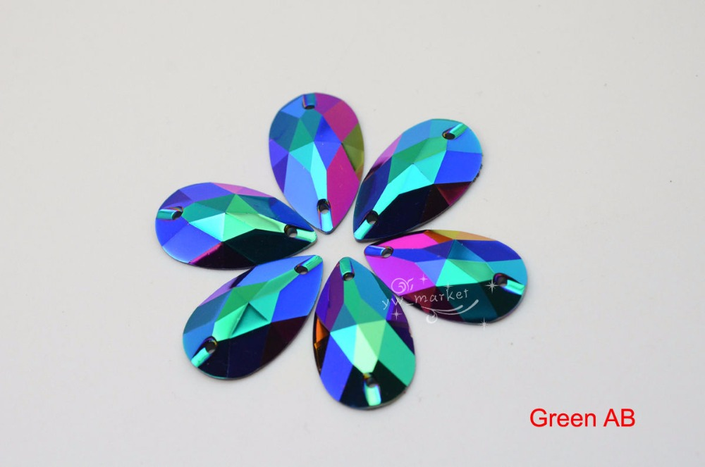 Acrylic Stones Manufacturers Mail: Aliexpress.com : Buy Tear Drop 17x28mm Black Color AB