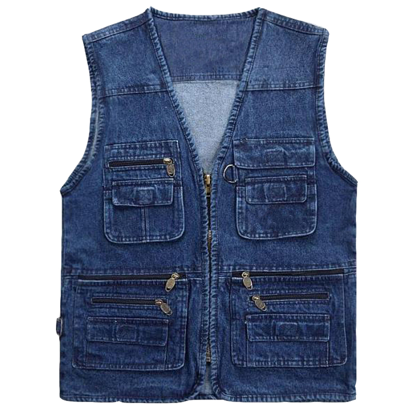 European and American Style Out Door Mens Denim Vest Brand Designer Male Top Tees Bape Clothing High Quality Men Work Vest S2781