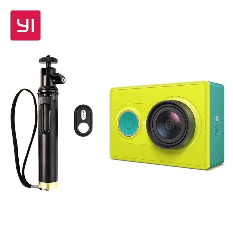 YI 1080 P Macchina Fotografica di Azione Lime Green High-definition 16.0MP 155 Gradi Angolo di Riduzione del Rumore 3D Edizione Internazionale