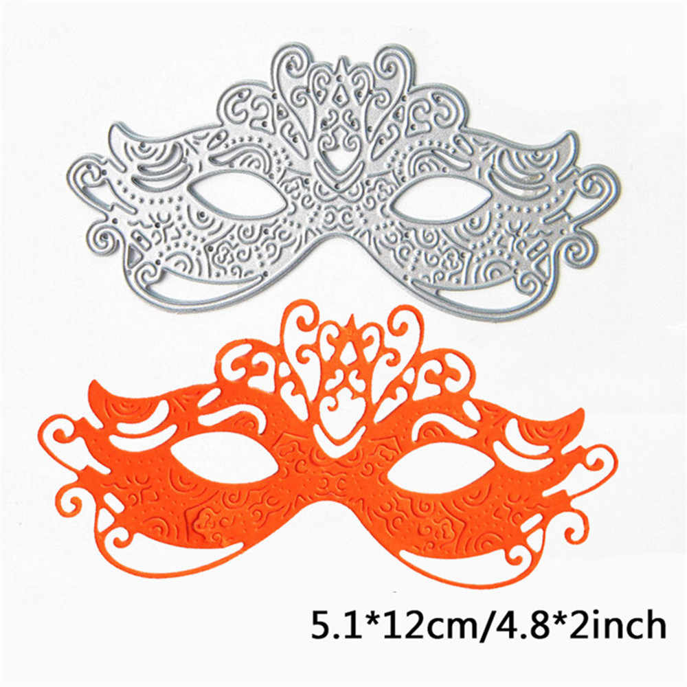 Exquisite Mask Cutting Dies Stencil for DIY Scrapbooking Photo Album Embossing Paper Cards Decorative Crafts for Masquerade Card