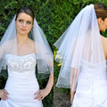 Hot Styles Two Layer Elbow Length White Ivory Tulle Net Comb Wedding Veils Bridal Veils Cheap Bridal Accessory