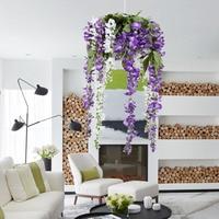 Boutique de Nueva Wisteria Vides 12 unids 105 cm Glicinas Artificial Guirnaldas de Flores para La Fotografía De Boda Decoraciones Para el Hogar DIY