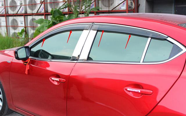 Janela Visor ventilação sombra chuva / sol / guarda vento para Mazda 6 M6 Atenza