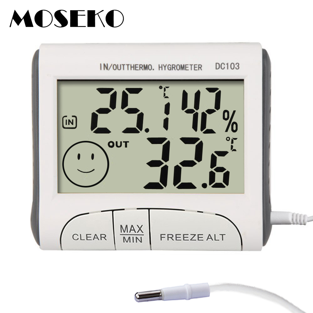 us $7 71 20% off moseko weather station household indoor & outdoor temperature humidity meter temperature display thermometer hygrometer monitor in  25 thermometerhygrometer for indoor gardens #4