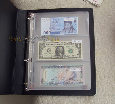 1Pc 3 Pockets Bill Note Currency Holder Album Pages Collection