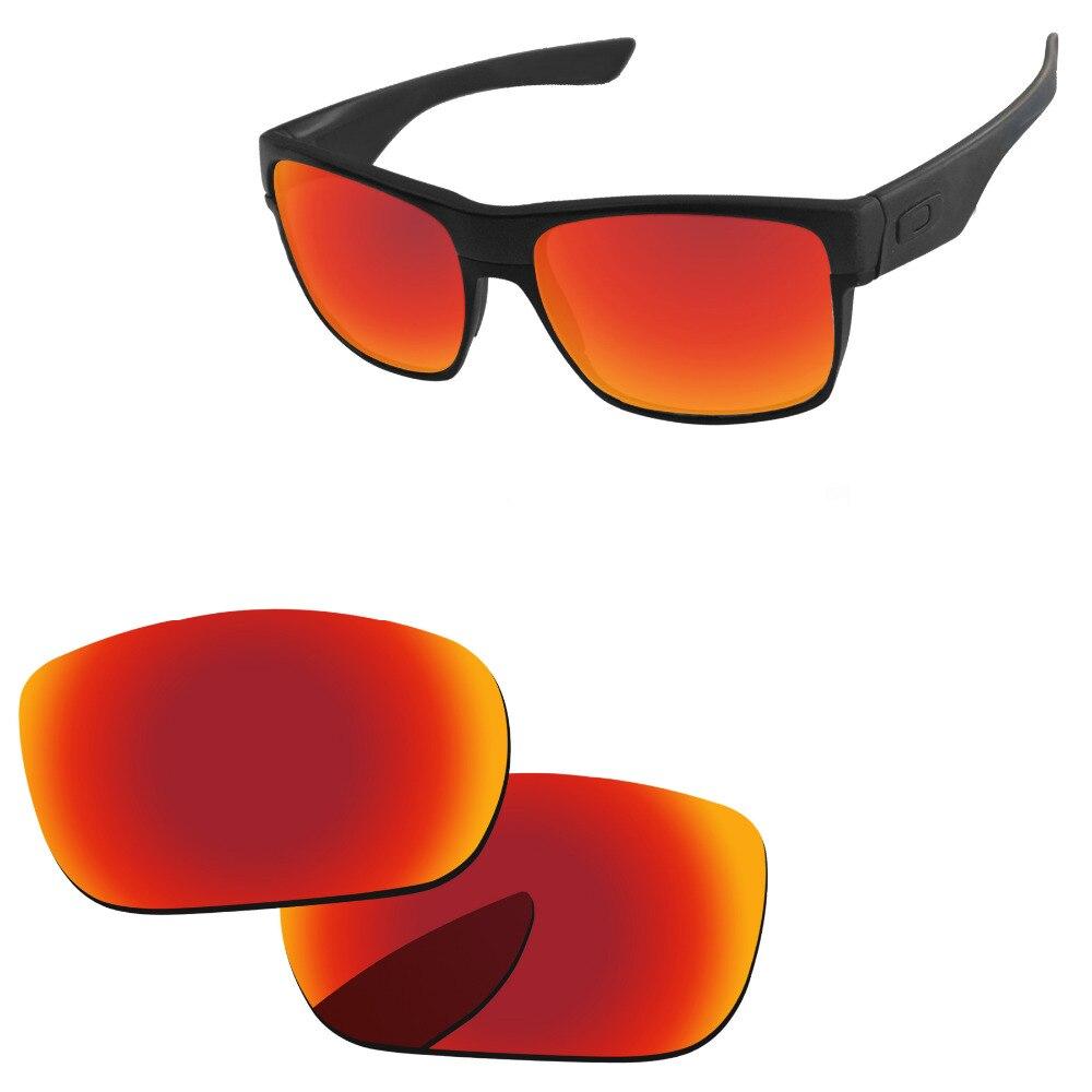2172a28db البولي-النار الأحمر مرآة استبدال العدسات ل TwoFace النظارات الشمسية الإطار  100% UVA و UVB حماية