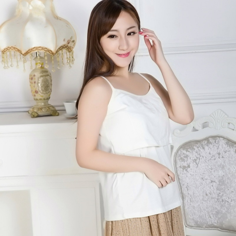 new summer maternity tank top T shirts pregnant tank top vest women breast-feed clothing Strappy Vest Tank Tops Camisole