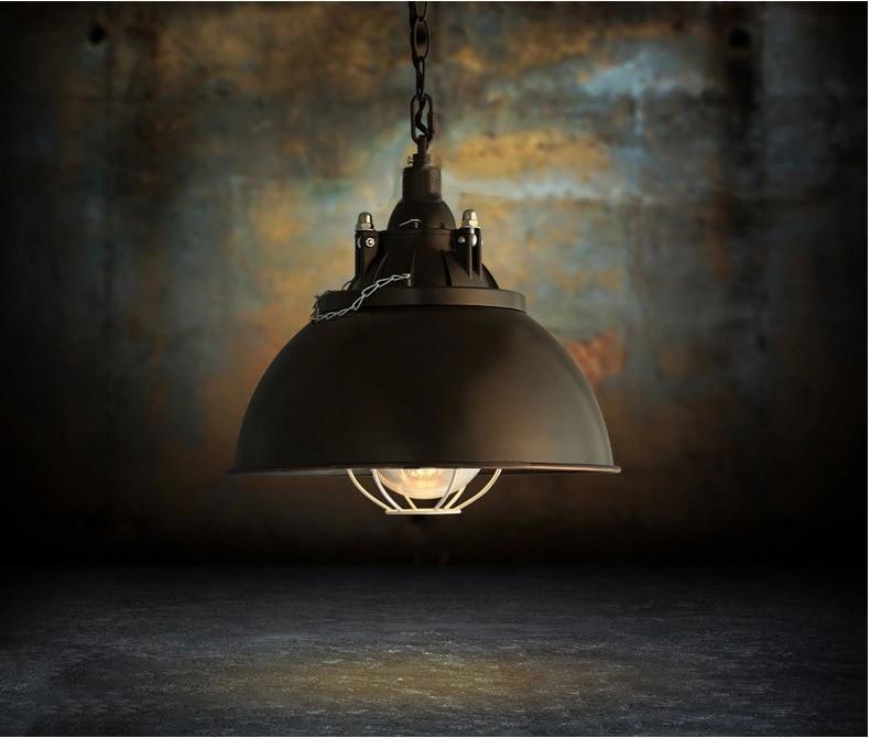 где купить loft industrial retro lamp single head black iron pot pendant light bar restaurant coffee bar bar single head hanging light по лучшей цене
