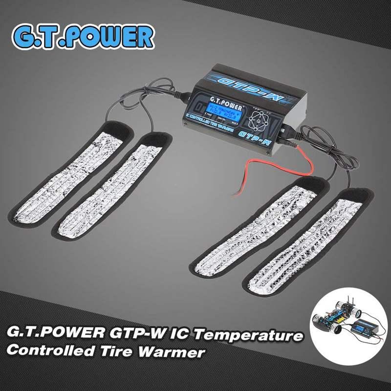 Réchauffeur de bande de réchauffeur de pneu de contrôle de la température IC de puissance de FATJAY GT avec l'affichage d'affichage à cristaux liquides pour le caoutchouc de pré-chauffage de voiture de tourisme de la taille 1/10 RC
