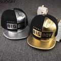 2016 ala plana oro snakeskin snapback caps boy, marca bigboy snapback para los hombres, K Pop Hip Hop Monopatín Sombreros, Gorras Hombres Hueso