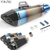 Motorcycle Real carbon fiber exhaust Exhaust pipe CB 599 919 400 CB600 HORNET CBR 600 F2 F3 F4 F4i 900RR VTX1300 NC700 S/X