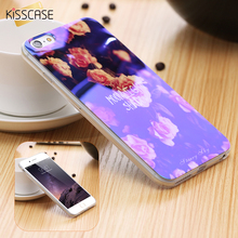 KISSCASE i5 5S SE Mobile Phone Case For iPhone 7 6 6S Plus Glitter Light Cover For iPhone 5 5S SE Case iPhone5 5S SE Cases Bag(China)