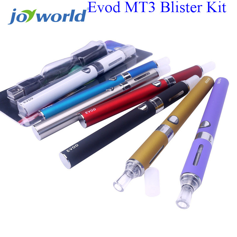 MT3 Electronic Cigarettes Starter kit eGO MT3 Atomizer Clearomizer EVOD 900mah 1100mah e cigarette kit in Blister Packing 15YY