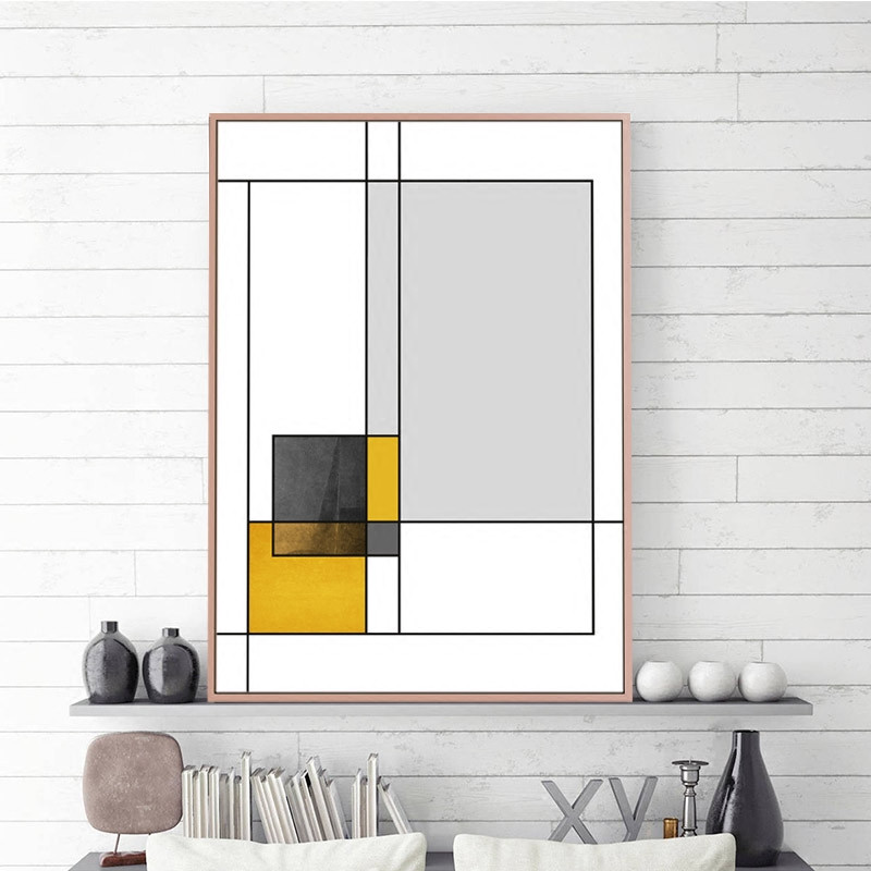Love Geometry Heart Posters And Prints Abstract Wall Art Canvas Painting Wall Pictures For Living Room in Painting Calligraphy from Home Garden