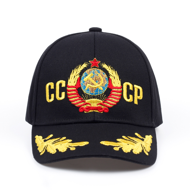 new CCCP USSR national emblem Hot Sale Style Baseball Cap Unisex black Red cotton polo snapback Cap with embroidery high quality hot winter beanie knit crochet ski hat plicate baggy oversized slouch unisex cap