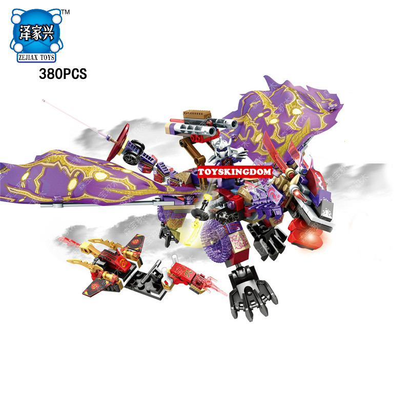 Hot Lepins Phantom Ninja Purple Evil Dragon Knights Building Block Warrior Kai Figures Aerocraft Bricks Toys for Kids Gifts hot city series aviation private aircraft lepins building block crew passenger figures airplane cars bricks toys for kids gifts