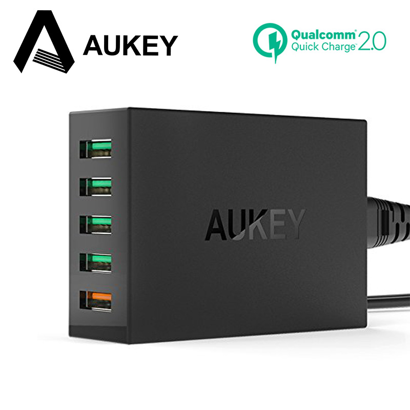 AUKEY Quick Charge 2,0 Usb-ladegerät Handy Schnelle Ladegerät Für iPhone X 8 7 6 s iPad Xiao 8 mi7 mi6 Samsung s8 energienbank