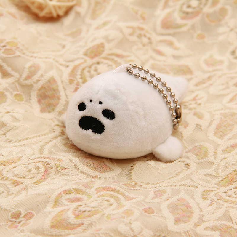 Милые уплотнения плюшевая игрушка-животное мягкая подушка подарок белые морские львы Коллекционная кукла игрушка милый брелок для ключей с фигуркой тюленя кулон украшение игрушка