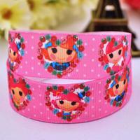 7 8 22mm Lalaloopsy Printed Grosgrain Ribbon Party Decoration Satin Ribbons DIY Hairbow Sewing Supplies OEM