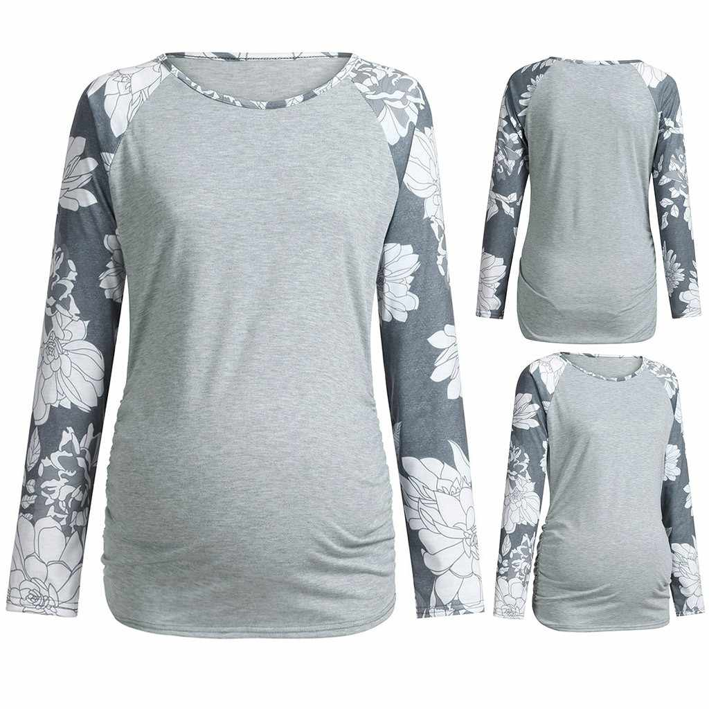 2938f0b09ea72 New Maternity Clothes Pregnant Clothes Women Maternity Floral Printed Long  Sleeve Top T-Shirt Maternity