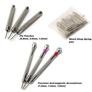 Image 4 - 144 Uds herramientas para relojes, abridor de reloj, removedor de barra de resorte, reparación, Pry destornillador, Kit de herramientas de reparación de relojes, herramientas de relojería