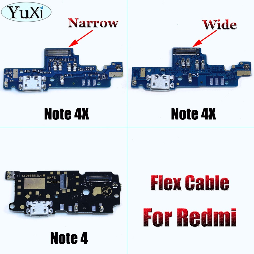 YuXi USB Port Charger Dock Plug Connector Flex Cable Note 4X For Xiaomi For Redmi Note 4 Charging Port Board Replacement