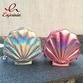 Fashion brand personality new design laser  sweet shell chain shoulder bag clutch bag  girl's messenger bag handbag flap 4 color