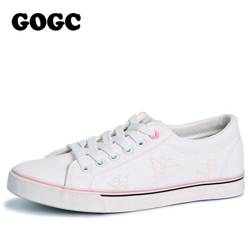 GOGC 2018 מותג שטוח נעלי נשים לנשימה Autunm קיץ אישה Slipony רך ופרס ליידי נעליים יומיומיות נשים של לגפר נעלי