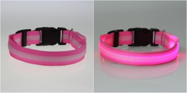 8 Warna S M L Ukuran Cahaya LED Dog Pet Cat Flashing Light Up Nylon - Produk hewan peliharaan - Foto 4