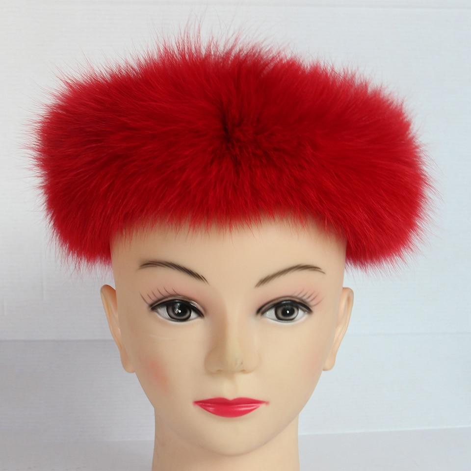 2017 Children Fashion Real Solid Fox Fur headband Winter Earwarmer Hat Headwear Women Baby Customized Size Adjsutable W#01