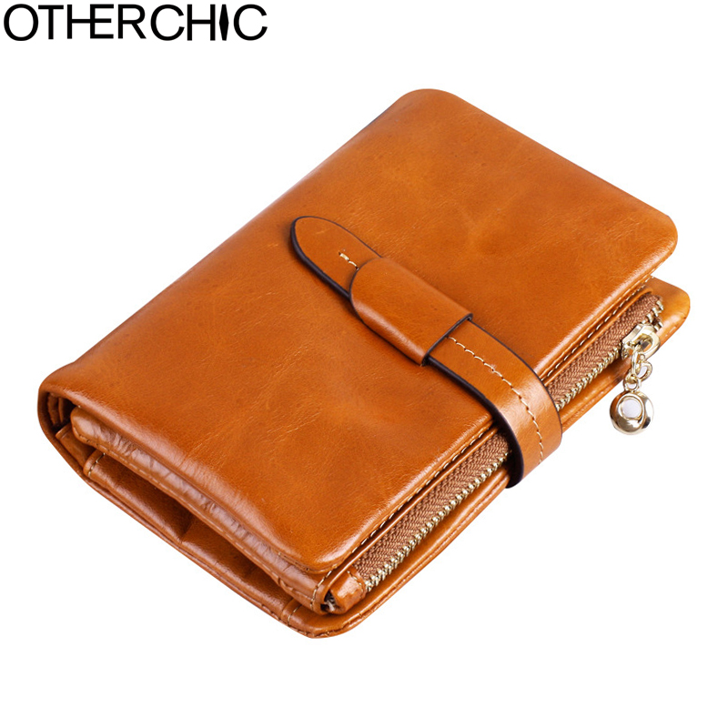 OTHERCHIC Leather Wallet Women Wallets Small Wallet Cow Leather Coin Purse Fashion Women Card Holder Zipper Wallets  17Y02-24 fashion pu leather purse women wallet id card holder coin purse zipper womens wallets and purses brand design small wallet women