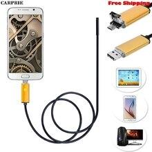 CARPRIE США responespon) 2 в 1 Android USB эндоскоп инспекционная 7 мм Камера 6 светодиодный HD IP67 Водонепроницаемый 2 м 5 м 10 м Прямая