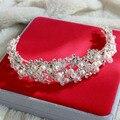 Corea aleación de hiqh calidad de perlas de cristal de novia hairband rhinestone hairbands tocado de novia de la boda