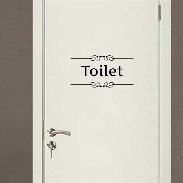 Toilet Entrance Sign Stickers