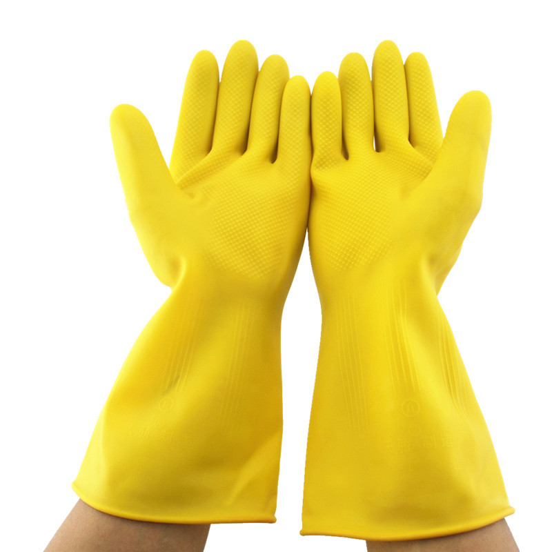 1 Pair 32cm Long Rubber Gloves Acid Alkali Resistant Latex Gloves Corrosion-Resistant Thicker For Chemical,Oil,Paint,Maintenance reccagni angelo подвесная люстра reccagni angelo l 4660 3
