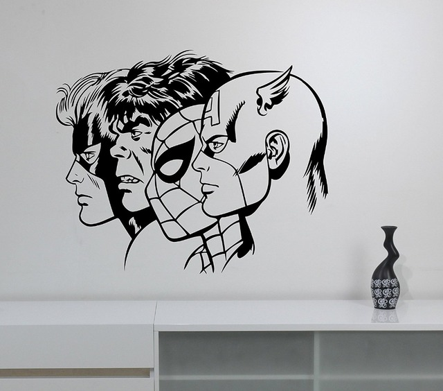 Aliexpresscom Buy New Arrival Superheroes Wall Decal Removable - Superhero wall decals