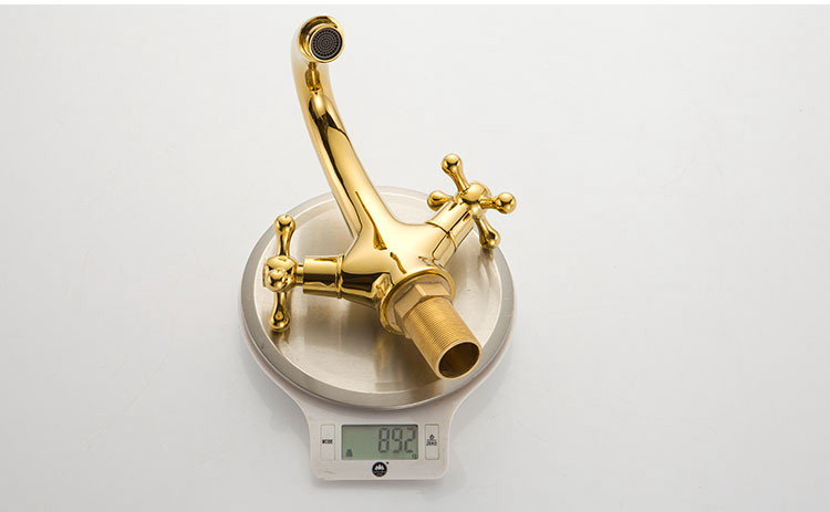 Bathroom Faucets Price In India aliexpress : buy double handle gold brass basin faucet with