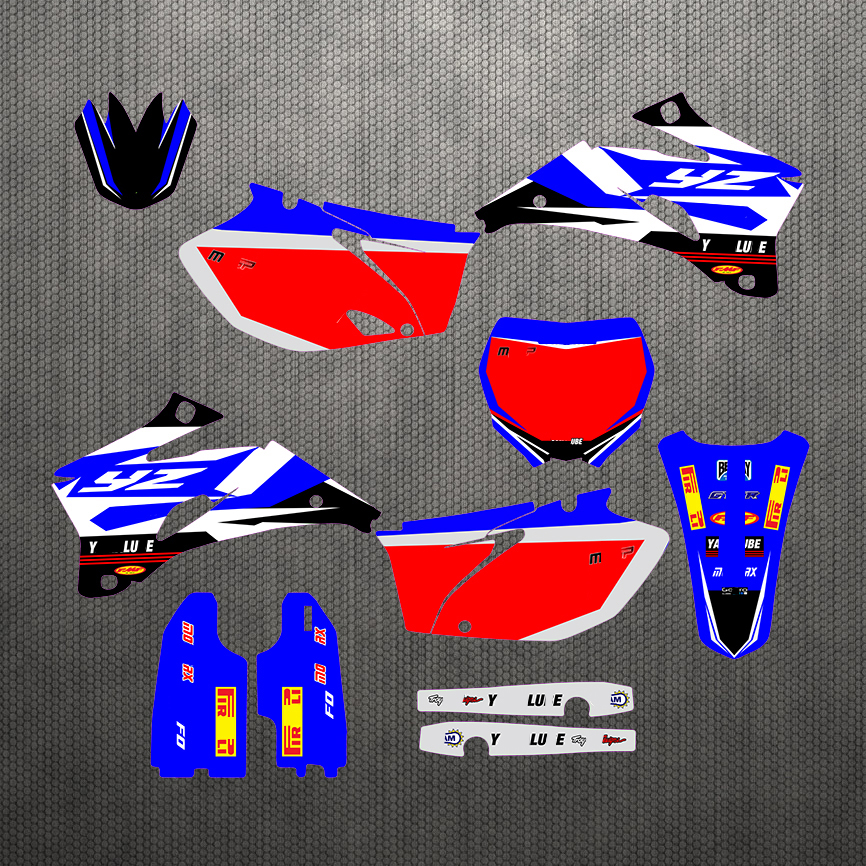 06-09 YZ250F YZ450F Free Customized Graphic Stickers Kit Decal Off-Road For Yamaha YZF 250 YZF250 YZF450 2006 2007 2008 2009