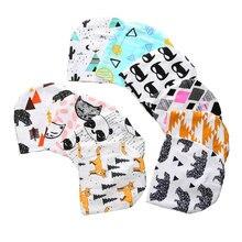 Heiße neue Baby-Hut-Baumwolldruck-Kind-Jungen-Mädchen-Kappen-Art- und Weisebaby-Kappen-Frühlings-Herbst-warme Hut-Kleinkind-neugeborene Hüte 0-2 Jahre