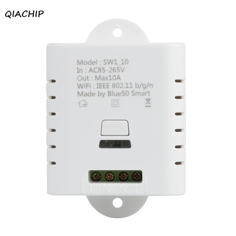 QIACHIP WiFi Smart Switch 220V Smart Home Automation Module Wireless Remote Control light lamp switch Work with Amazon Alexa H4 qiachip e27 rf wifi 433mhz wireless smart light led lamp bulb holder smart home app timer for ios android remote control switch