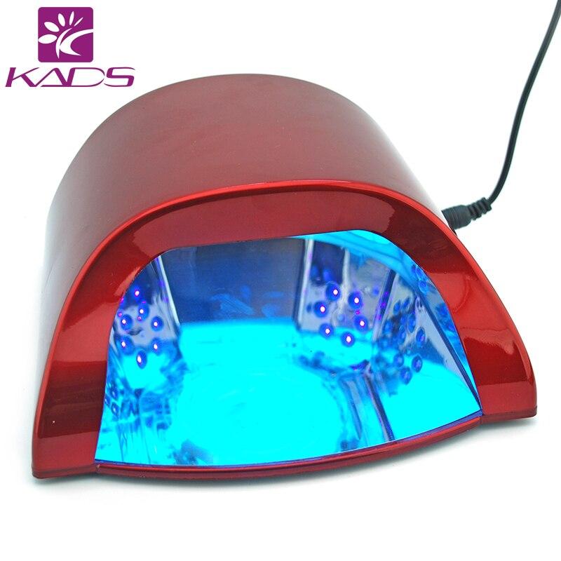 KADS Professional 110v & 220v 18W LED Nail Gel Curing UV Light Lamp for Manicure Salon EU US Plug Available Nail Polish Dryer
